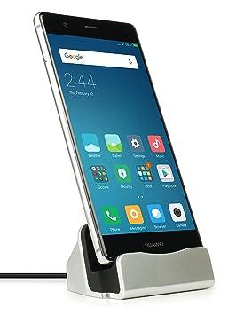MyGadget Dockingstation Ladestation [USB C] für Android Smartphones - Halterung Dock für z.B. Samsung Galaxy S9 S8, Note 9 8,
