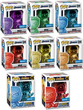 Funko Colored Ultimate Infinity Stones Collectors Set POP! Marvel: Exclusive Chrome Hulk Infinity Stone Set 499 (6 Colors) + Thanos Avengers # 289 Red & Blue (MEGA 8 Pack Store Exclusive Bundle): Amazon.es: Juguetes y juegos