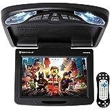 Rockville RVD12HD-BK 12 inch Black Flip Down Car Monitor with DVD/USB/SD Player + Games (RVD12HD-BK v2)
