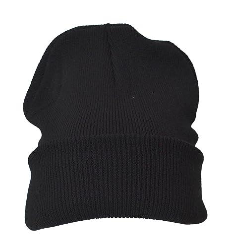81510fa10b4 50 x Plain Black Warm Winter Unisex Beanie Hats Wholesale  Amazon.co ...