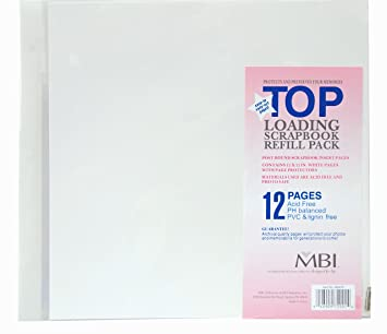 Amazoncom Mcs Mbi 12x12 Inch Scrapbook Expansion Page Refills 6