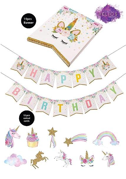 Amazon.com: Unicornio suministros de fiesta temática de ...