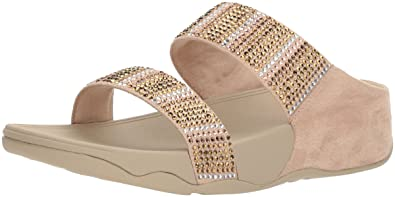 423aae97cd28 Amazon.com  FitFlop Women s Flare Strobe Slide Sandals  Shoes