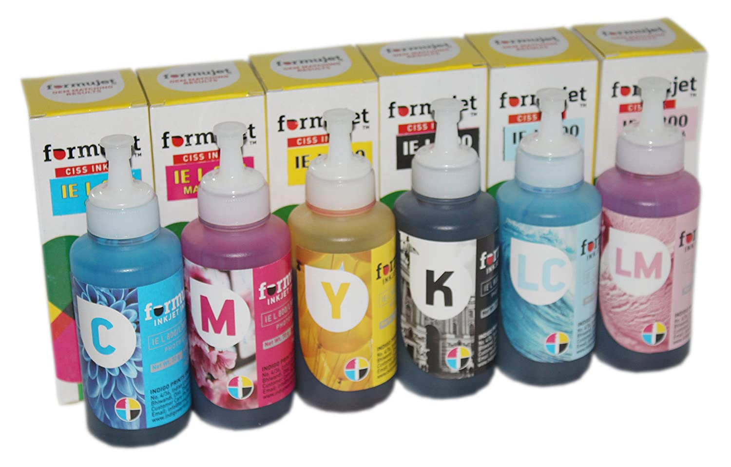 Formujet IE L800 Ink for Epson - Set of 6 Colors 70 gm for