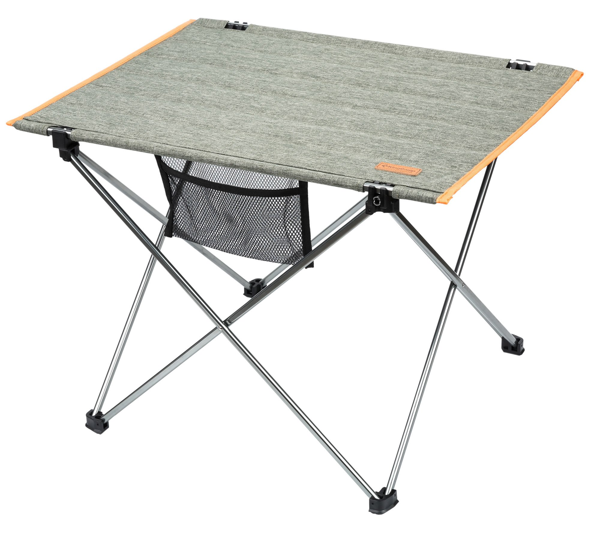 KingCamp Ultra-Lightweight Portable Aluminum Oxford Folding Roll Up Table for Picnic, Camping, Barbecue and Backyard Party, 22 × 16.7 × 15.7 inches, 2.4 lbs