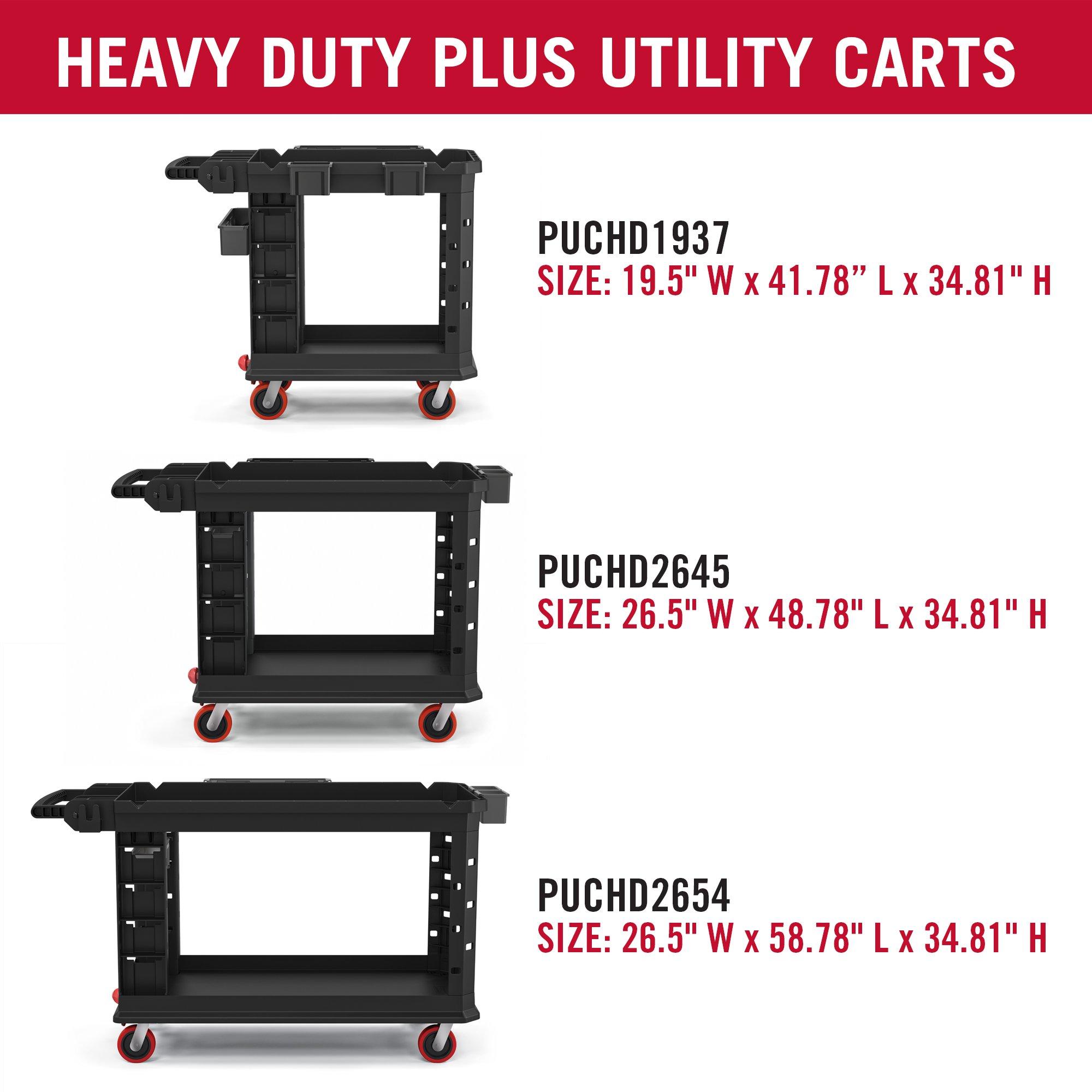 Suncast Commercial PUCHD1937 Utility Cart, Heavy Duty Plus 19 x 37, 500 Pounds Load Capacity, black by Suncast Commercial (Image #7)