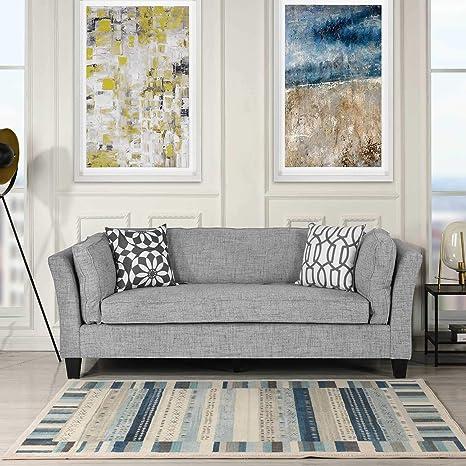 Admirable Casa Andrea Milano Linen Fabric Sofa Couch Modern Mid Century Lounge Sofa Upholstery Fabric Lounger For Living Room Furniture Club Style Creativecarmelina Interior Chair Design Creativecarmelinacom