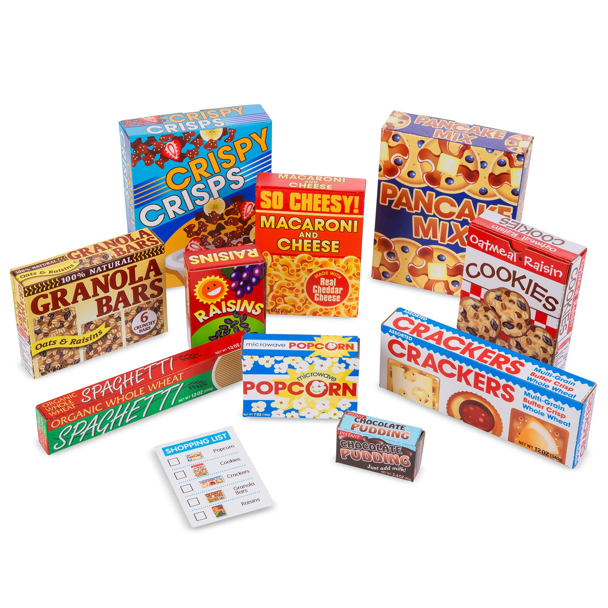 Melissa & Doug Let's Play House! Grocery Shelf Boxes (Pretend Play, Pre-Assembled, Sturdy Cardboard, 11 Pieces, Great Gift for Girls and Boys – Best for 3, 4, 5 Year Olds and Up)