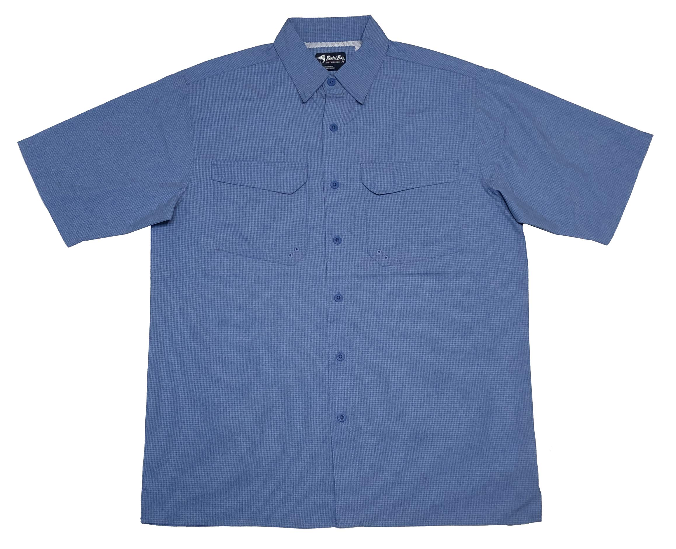 Bimini Bay Outfitters 'The Largo' Short Sleeve Shirt with BloodGuard (Marina Blue, X-Large) by Bimini Bay Outfitters