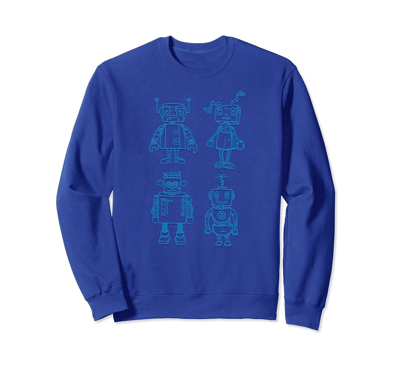Funny Robots sweatshirt Crazy Zany Robots-AZP