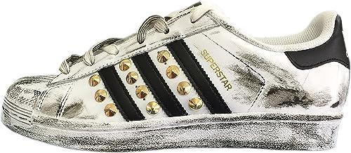 adidas bianche borchie