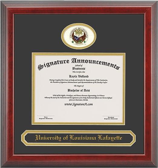 Cherry 16 x 16 Signature Announcements Lafayette College Undergraduate Sculpted Foil Seal Graduation Diploma Frame
