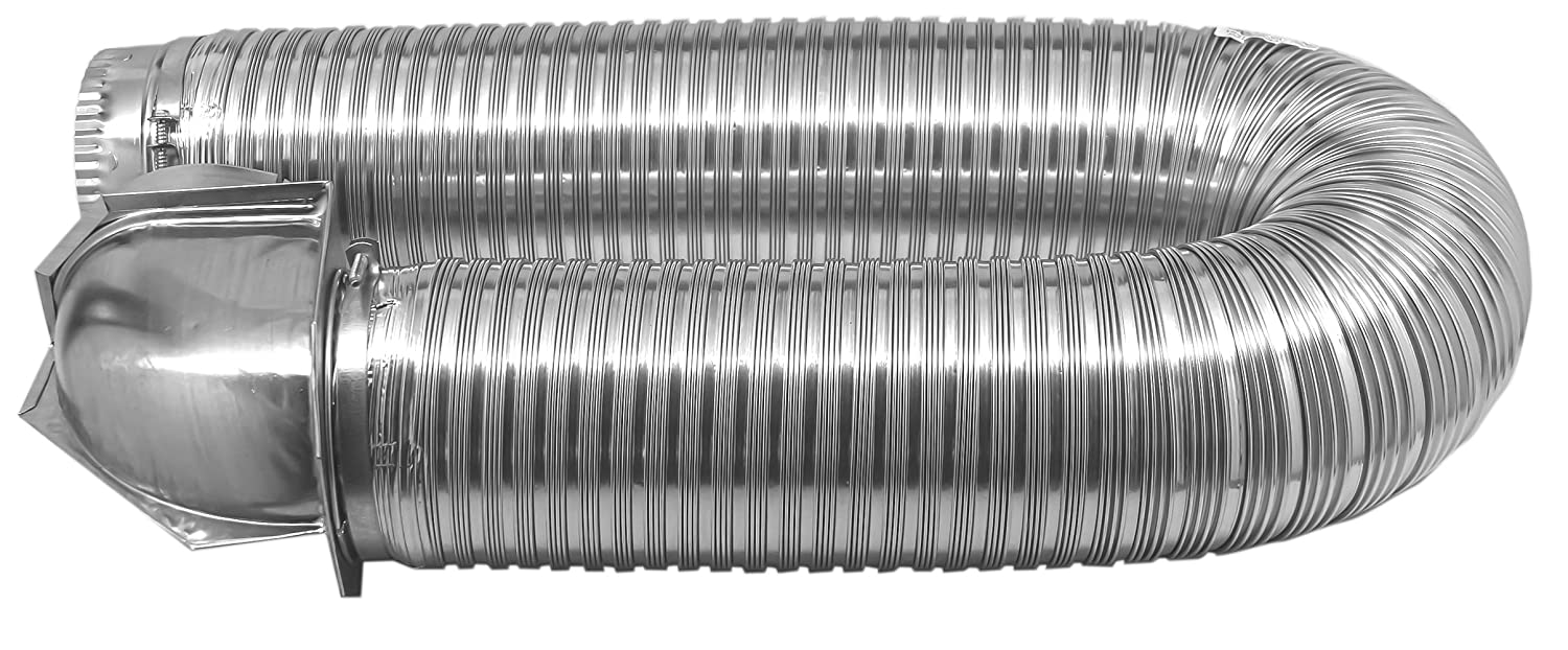 4 Diameter x 8 Length Builders Best 011718 All Metal SAF-T Single Elbow Dryer Vent Duct Kit UL Listed