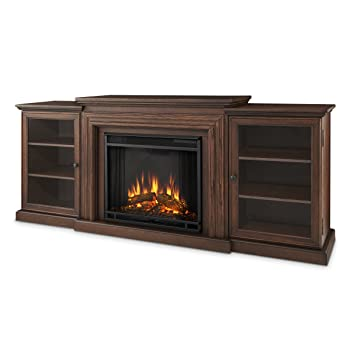 real flame frederick entertainment center electric fireplace rh amazon co uk 60 TV Entertainment Center with Fireplace 60 TV Entertainment Center with Fireplace