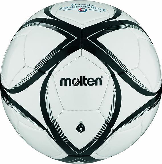 Molten - Balón de fútbol, color blanco/negro/plateado, talla 5 ...