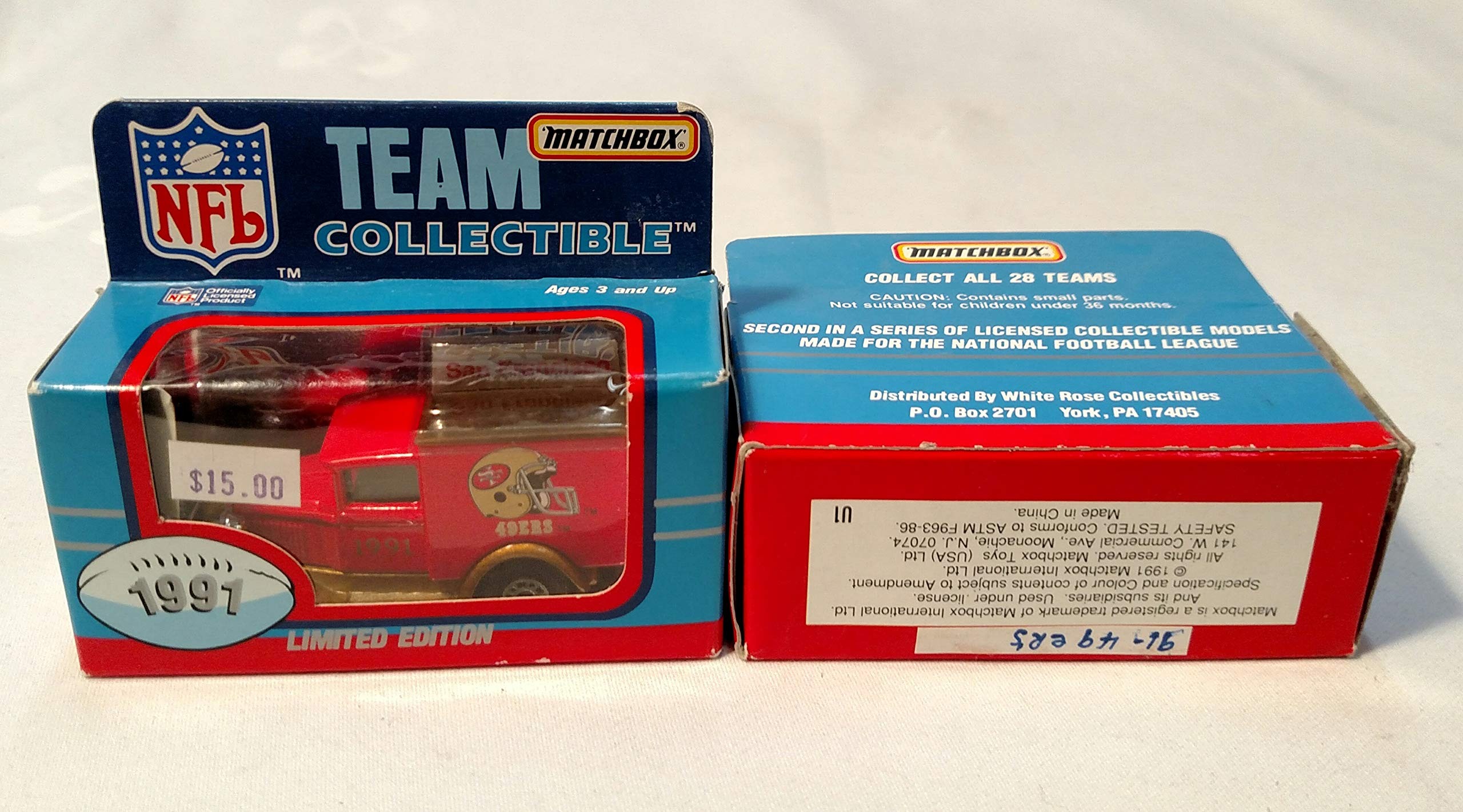 San Francisco 49ers 1991 Limited Edition Matchbox Diecast Collectible