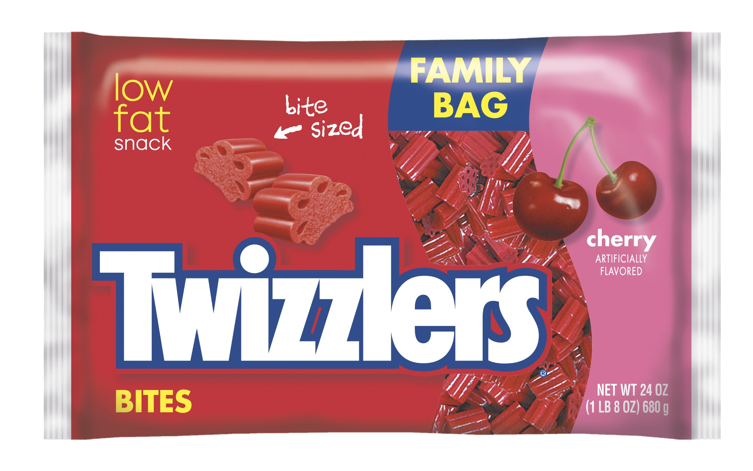 TWIZZLERS Licorice Candy, Cherry, Bites, 24 Ounce (Pack of 12) by Twizzlers