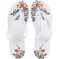 DeFacto Çiçek Desenli Parmak Arası Terlik Moda Ayakkabılar Kadın