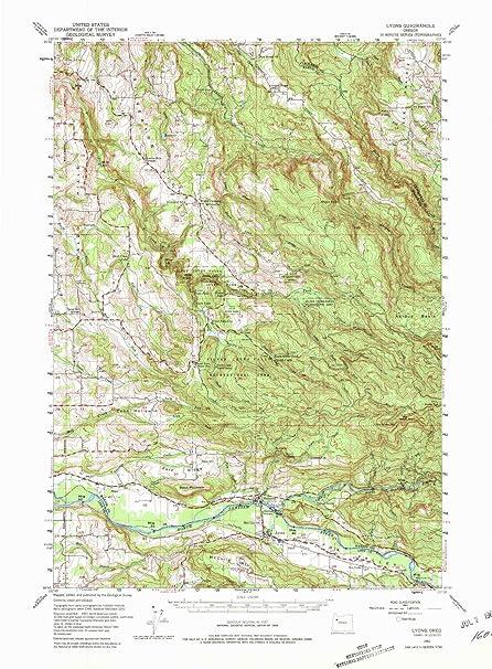Amazon.com: YellowMaps Lyons OR topo map, 1:62500 Scale, 15 ... on