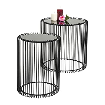 Kare design wire side table metal black amazon kitchen kare design wire side table metal black greentooth Image collections