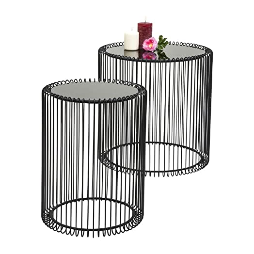 Kare design wire side table metal black amazon kitchen kare design wire side table metal black greentooth Choice Image