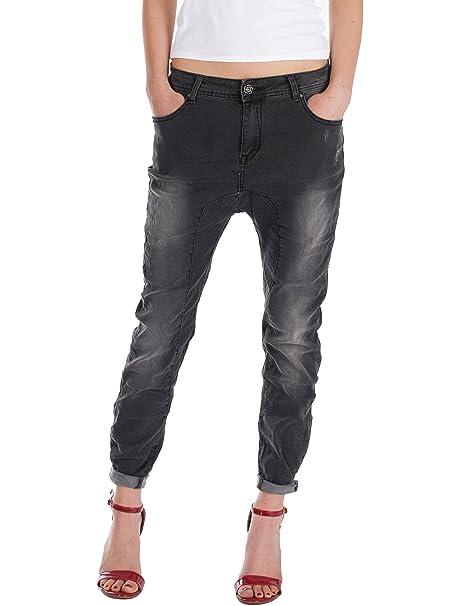 c2f7a366c755 Fraternel Jeans donna cavallo basso baggy nero taglia: IT 40 - S:  Amazon.it: Abbigliamento