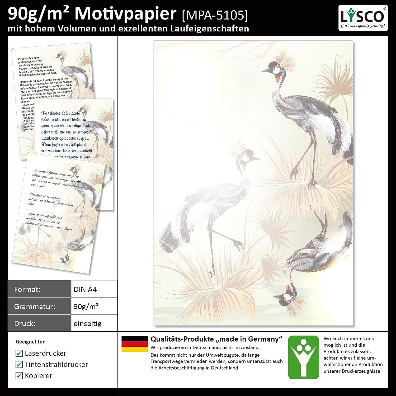 25 Blatt Motivpapier-5105 DIN A4 Vogel Pfau Federn Vögel Pfauenfedern