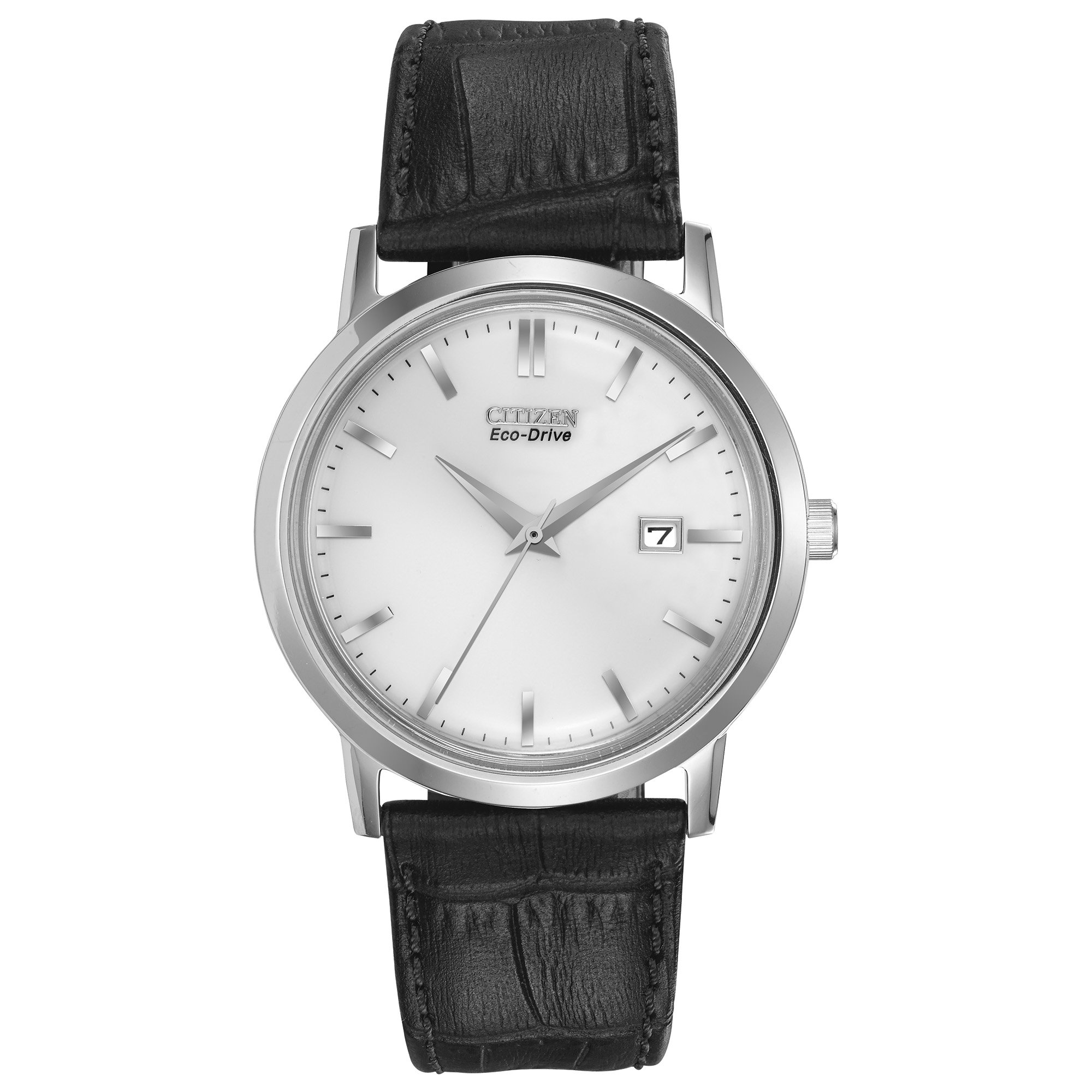 Men's Eco-Drive Stainless Steel Watch with Date, BM7190-05A