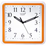 Victor Plastic Analog Wall Clock (26 cm x 26 cm x 5 cm, Orange)