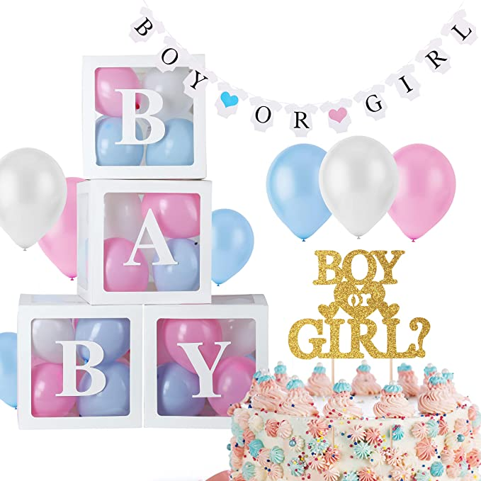 """1/"""" Mini Gender Neutral Clear Baby Shower Favors Blocks Party Decorations Crafts"""