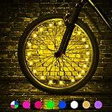 TINANA LED Bike Wheel Lights Ultra Bright Waterproof Bicycle Spoke Lights Cycling Decoration Safety Warning Tire Strip…