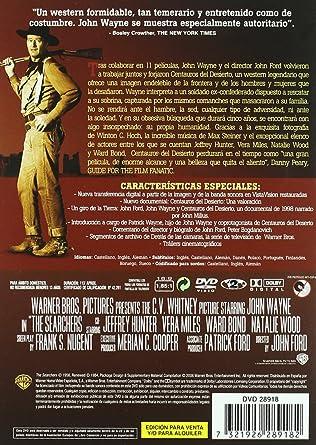 Centauros del desierto (Edición especial) [DVD]: Amazon.es: John Wayne, Natalie Wood, Jeffrey Hunter, Vera Miles, Ward Bond, John Qualen, Olive Carey, ...