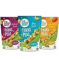 The Good Bean Crispy Favas Plus Peas, Variety Pack, 6 Ounce (Pack of 6)