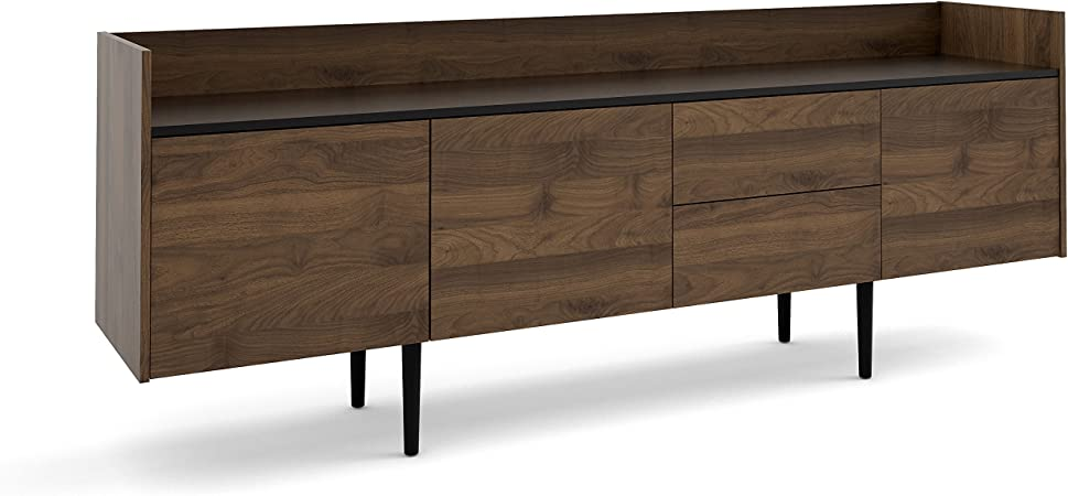 Tvilum Unit 2 Drawer 3 Door Sideboard Walnut Black Buffets Sideboards Amazon Com