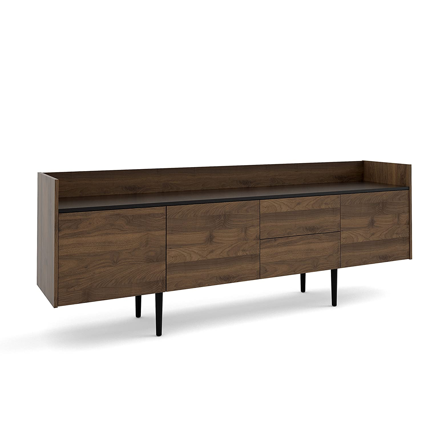 Tvilum Unit 2 Drawer 3 Door Sideboard, Walnut Black