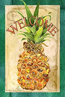 Beau Toland Home Garden Pineapple Welcome 12.5 X 18 Inch Decorative Colorful  Summer Fruit Garden Flag