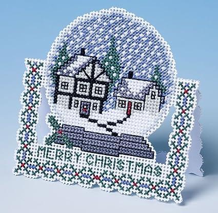 Amazon Com The Nutmeg Company Snow Globe Christmas Card 3d Cross