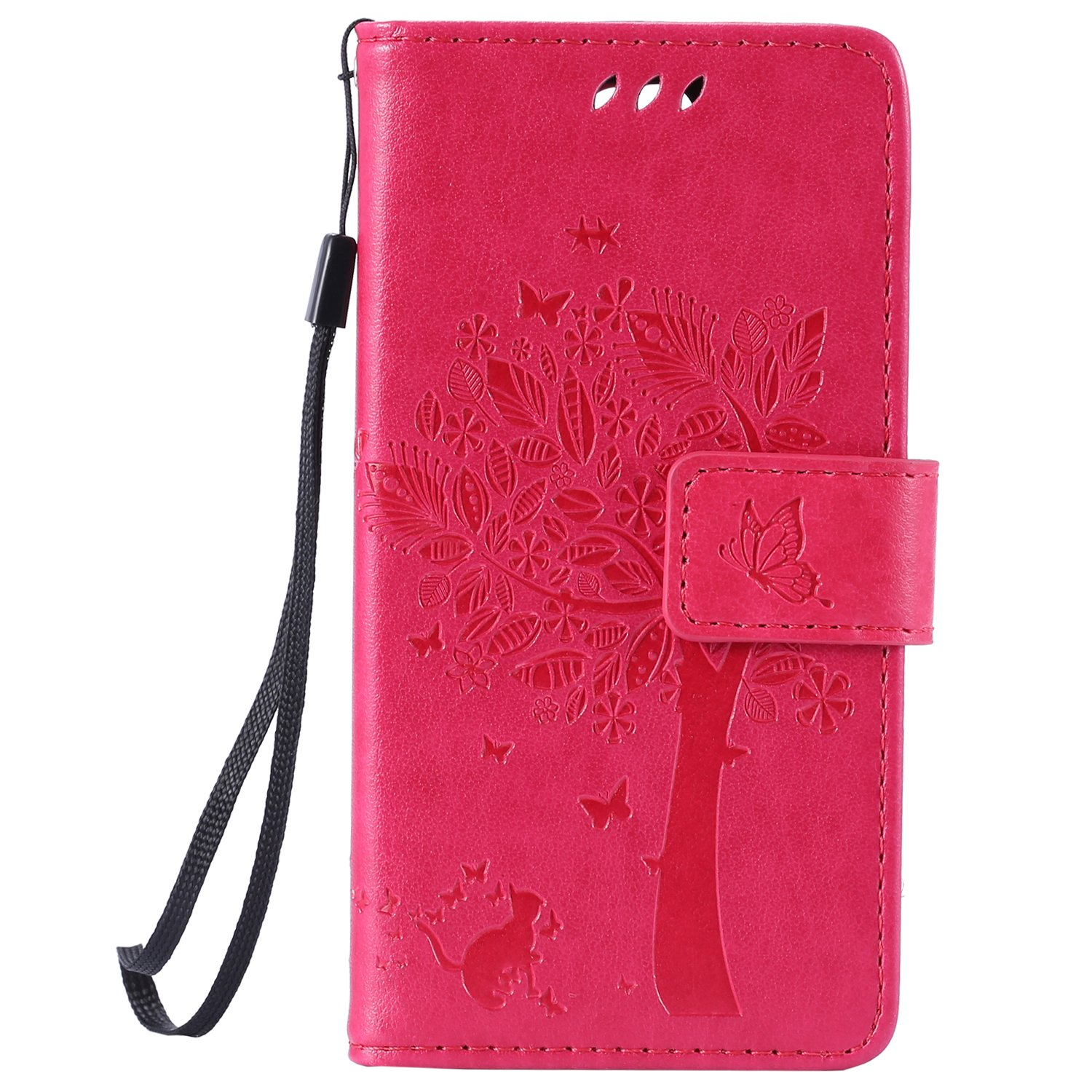Book Case Flip Case For LG Spirit 4G LTE H440 H420 C70 4,7 Pu Leather Wallet Rose red COZY HUT LG Spirit 4G LTE H440 H420 C70 Case Leather Rose red
