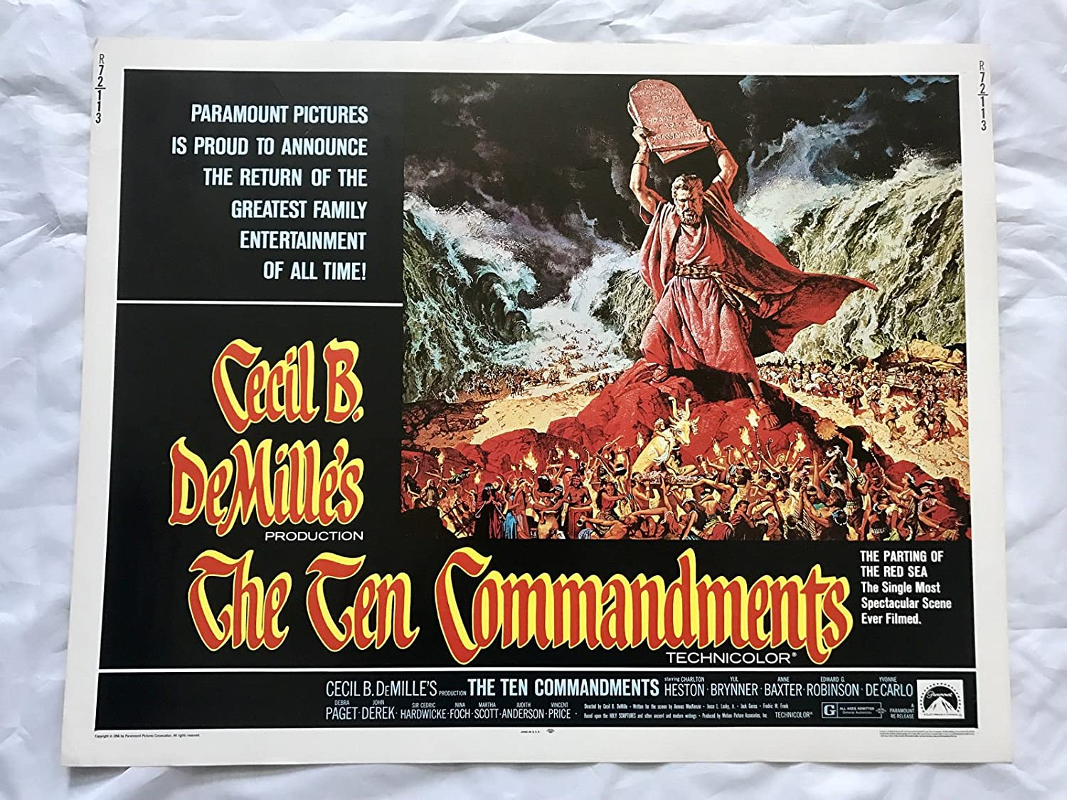 Image result for the ten commandments 1956 movie poster