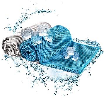 Toalla con sistema de enfriado de alta tecnología Fylina, secado inmediato, absorción de sudor