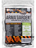 Heirloom Seeds - Non-GMO, Non-Hybrid, Open Pollinated 20,000+ Seeds to Grow 32 Variety of America Authentic Vegetables - Essential Survival Food for Off-the-Grid Preppers Garden