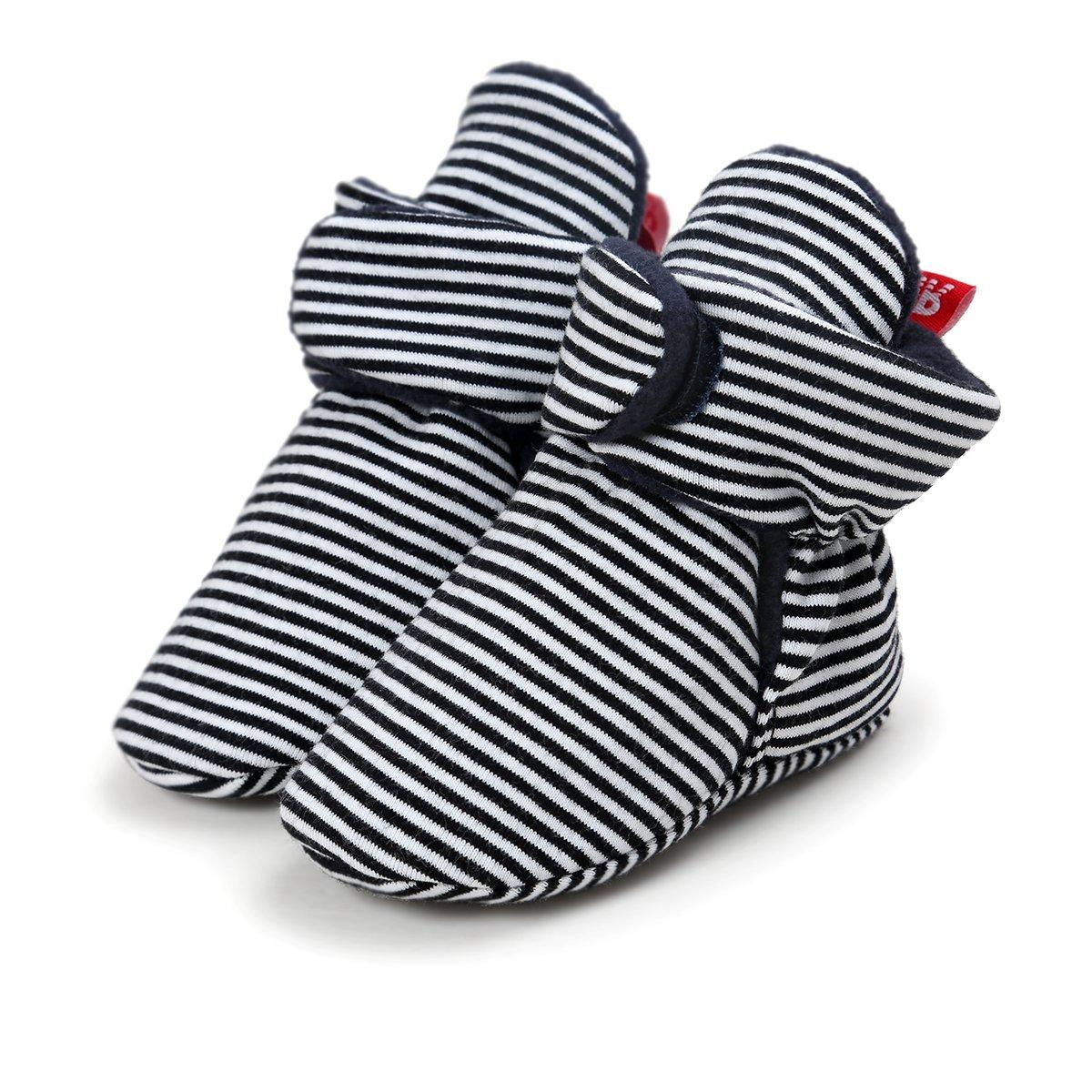 Fleece Booties Non Skid Bottom Unisex for Baby Boys Or Baby Girls