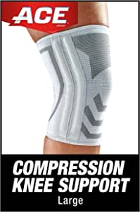 ACE Compression Knee Brace with Side Stabilizer, Satisfaction Guarantee, Large
