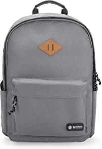 College Backpack, tomtoc 15.6 Inch Laptop Backpack Computer Bag Daypack Travel Bag School Bookbags Weekend Bag - Fits up to 15.6 Inch Laptops, Gray
