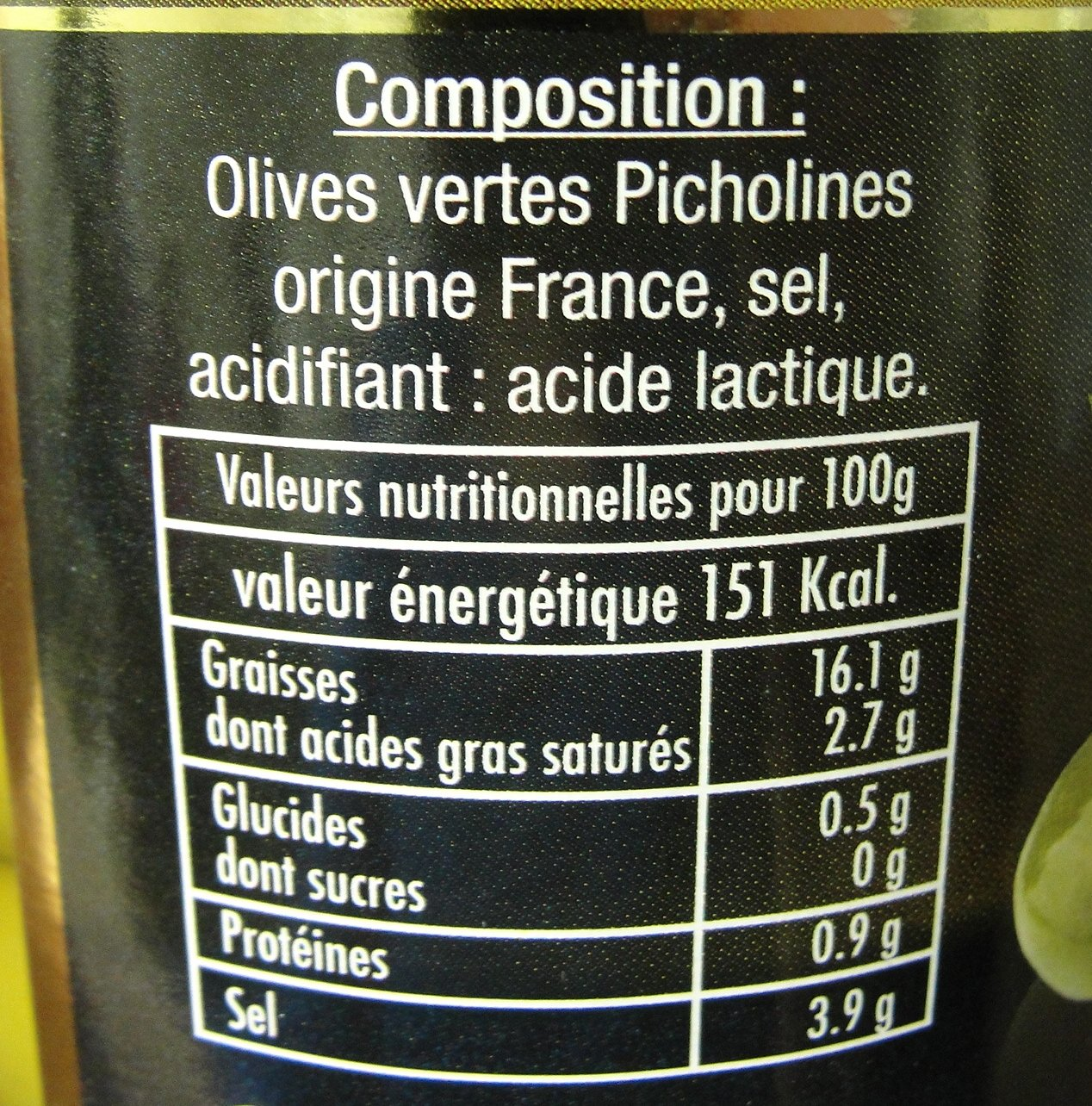Picholine French Provence Gourmet Green Olives 200 gr 7 oz jar by Picholine