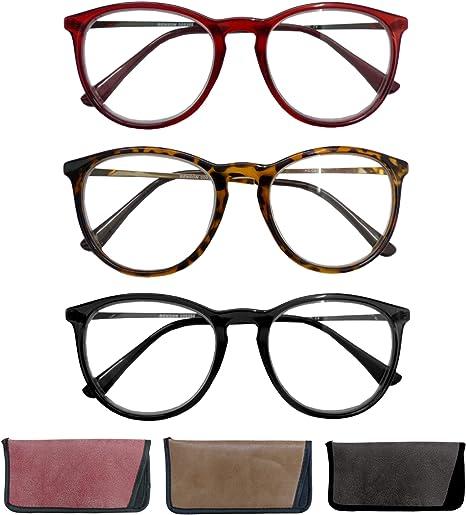 ALWAYSUV Kurzsichtigkeit Brille Myopia Brille im Business Stil Mit Dioptrien 4.0 1.0 bis