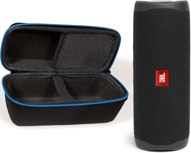 JBL Flip 5 Waterproof Portable Wireless Bluetooth Speaker Bundle with divvi! Protective Hardshell Case - Black: Home Audio & Theater