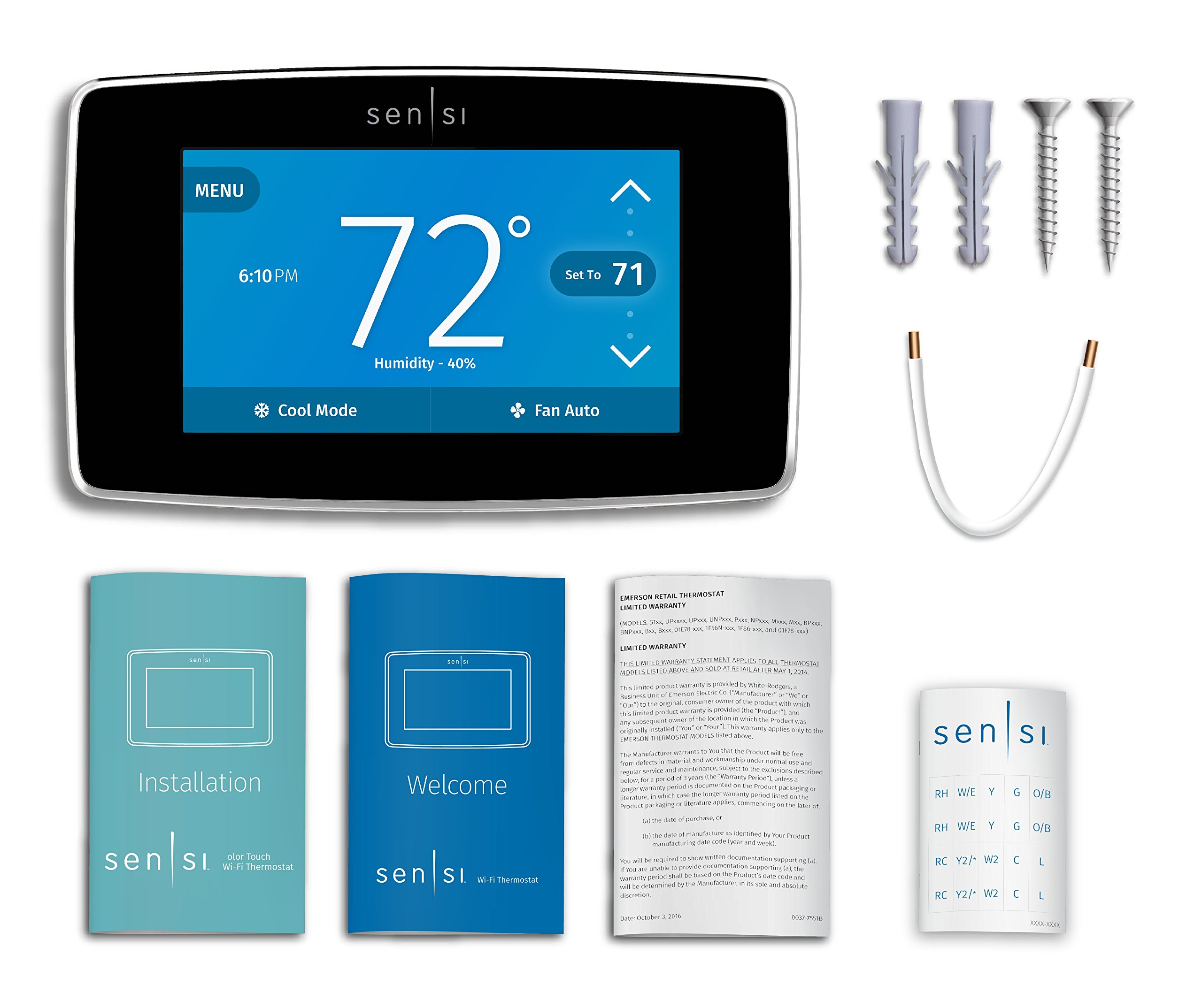 Emerson Sensi Touch Wi-Fi Thermostat with Touchscreen Color Display for Smart Home, ST75, Works with Alexa by Emerson Thermostats (Image #12)