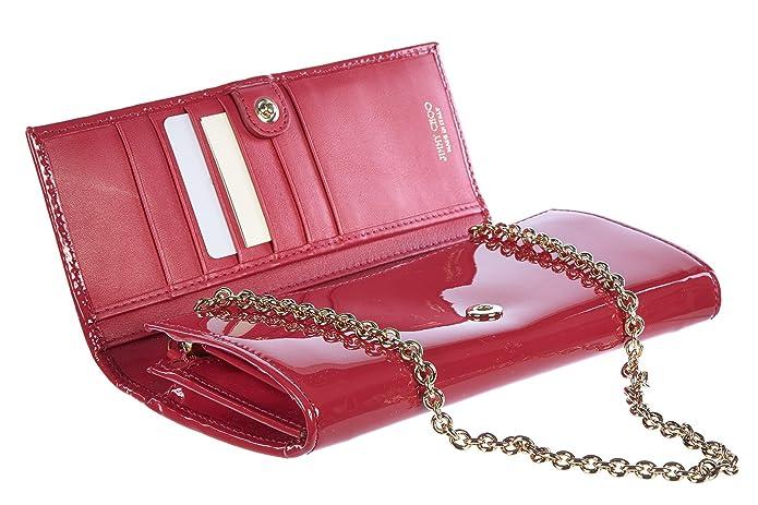 Jimmy Choo monedero cartera bifold de mujer en piel nuevo peppermint rojo: Amazon.es: Zapatos y complementos