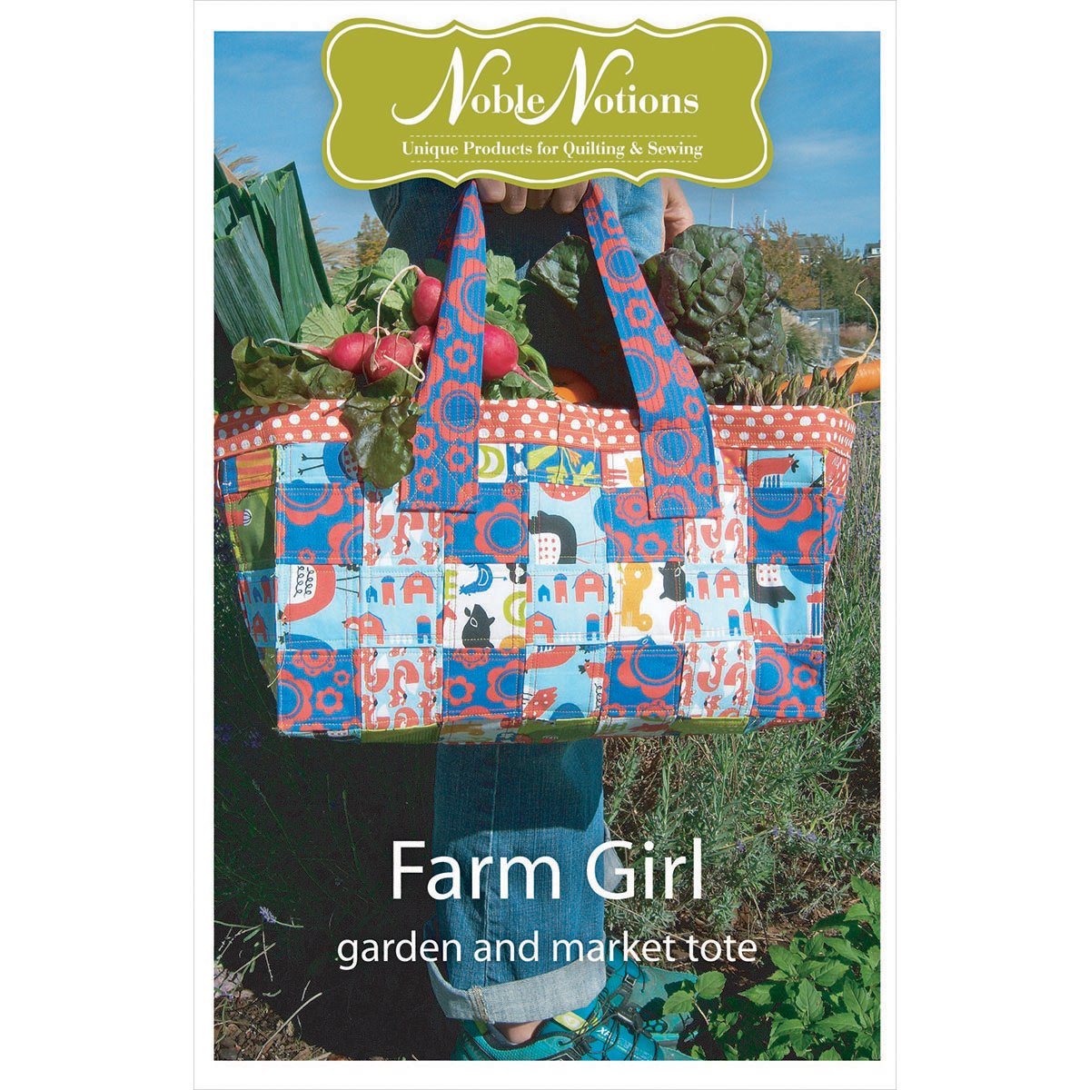 Noble Notions Patterns-Farm Girl Garden & Market Tote
